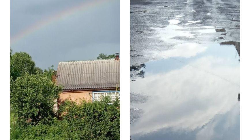 Фото дня: Козятин до дощу і після