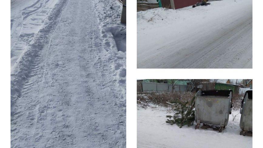 Фото дня: ялинка біля смітника та засніжені вулиці