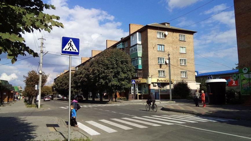 У центрі Козятина поставили нові знаки дорожнього руху