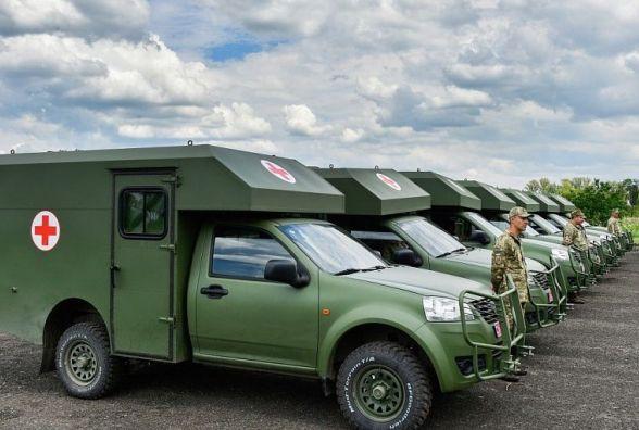 Медичні підрозділи ЗСУ отримали 14 санітарних автомобілів