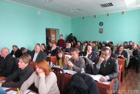 Фрагмент сесії Козятинської міської ради 16 лютого 2018 року