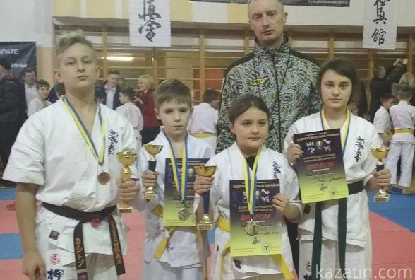 Чотири переможці на відкритому Кубку України з карате