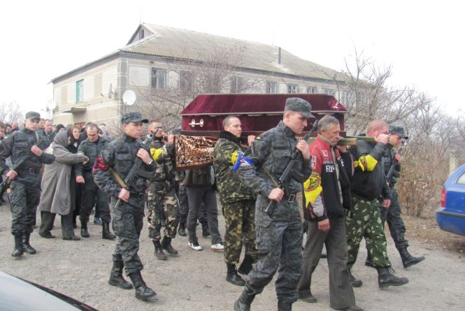 На Козятинщині провели в останній путь четвертого загиблого в зоні АТО — Олександра Москалюка