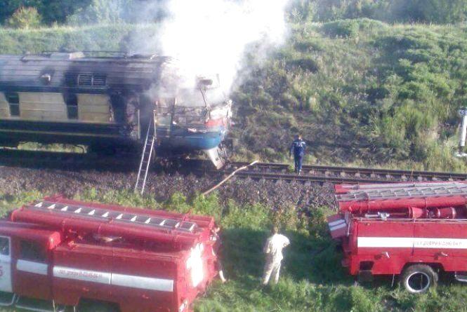 На Вінниччині на ходу загорівся пасажирський потяг: евакуювали 130 пасажирів