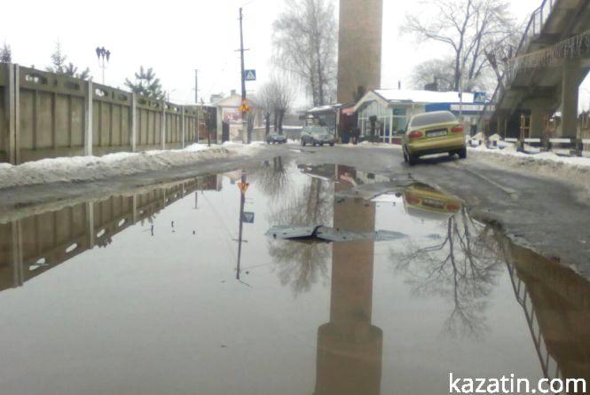 Потопаючий лежачий поліцейський у Козятині