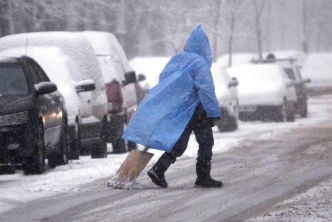 12 лютого в Козятині: мокрий сніг з дощем
