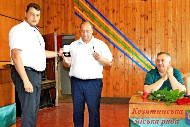 Керівнику козятинського локомотивного депо вручили нагрудний знак «За героїзм та патріотизм»