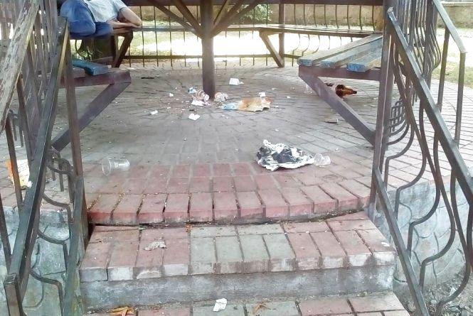 Фото дня: парк перетворився на сміттєзвалище